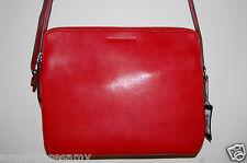 NEW Banana Republic Candice Crossbody Clutch Purse Handbag Red Leather $120 NWT