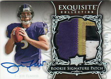 2011 EXQUISITE JOE FLACCO AUTO GOLD RC /25 AWESOME PATCH