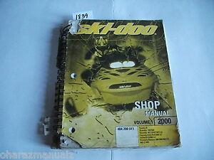 2000 Bombardier Ski Doo Tundra Skandic Touring Formula MX Z Shop Manual