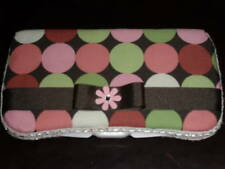 Pink & Brown Decorated Wipes Travel Case