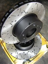 CROSS DRILLED SLOTTED Ford TERRITORY 2WD 4WD SX SY Front Disc Brake Rotors NEW