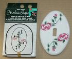 1995 Vintage Oval Porcelain MELARD Single Light Switch Outlet Cover Roses NOS