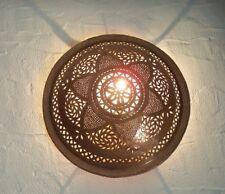 applique murale Marocaine fer patiné marron lampe lustre r lanterne orientale