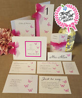Handmade personalised Wedding Stationery- Lots of design/ribbon colours!