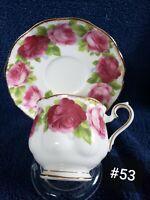 Royal Albert Teacup and Saucer. Fine Bone English China. (Old English Rose)