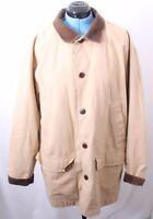 L.L. Bean Corduroy Collar Lined Pocketed Tan Barn chore Jacket Coat Men's XLR
