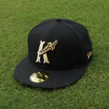 Charlotte Knights New Era 5950 Black Cap Hat NWT 7 1/4