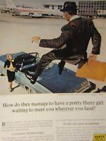 "1965 Hertz 1965 Chevrolet Impala Convertible-Original Print Ad 8.5 x 11"""