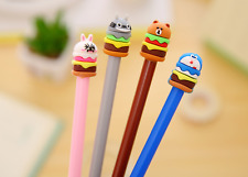2 x Cute Burger Animal fine point pen Party Cute Kids novelty stationery Kawaii