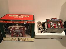 Coca-Cola 1992 Town Square Howard Oil Gas Station Porcelain Xmas Village Display