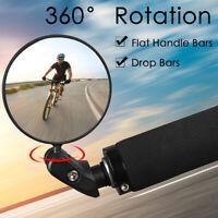 360°Fahrrad Rückspiegel Fahrradspiegel Lenkerspiegel Konvexspiegel Innenklem MTB
