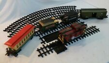 New Bright Express Animated Train Track & Cars Lot - 19 Pieces 1986