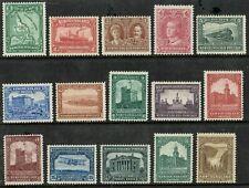 1928 Newfoundland SG164-178 Set of 15 1c-30c Very Fresh Fine L/M/M Cat. £140.00