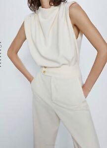 Las Mejores Ofertas En Pantalones Zara Dorado Para Mujer Ebay