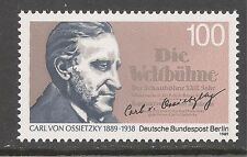 Germany Berlin #9N580 (A187) VF MNH - 1989 100pf Ossietzky Nobel Peace Prize