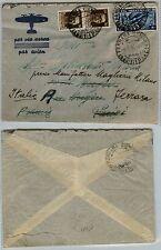 REGNO-Aerogramma due 30c(249)+1,25L(397) x Parigi 6.6.1936 rispedita al mittente