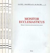 MONITOR ECCLESIASTICUS I II III IV del 2000