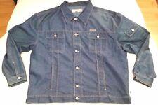 Ice Jeans Iceberg indigo jacket men sz 54/2XL Made in Italy Hip-Hop 90s