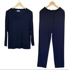 Men Modal Pajamas Set Nightwear Sleepwear Loungewear Long  Oversize V Neck Soft