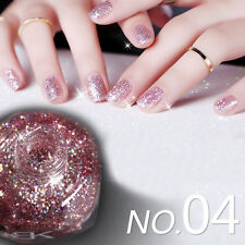 10ml Shiny Glitter Nail Art Shimmer Varnish Polish Pink Sequins Manicure #04