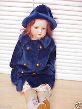 "Armand Marseille 370 Child 22"" Bisque Head DOLL w/Sleep Eyes+Coat & Hat VG+Deal!"
