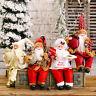 Christmas Santa Claus Figurine Home Tabletop Centerpiece Ornament Desk Decor