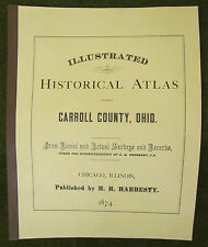 ILLUSTRATED HISTORICAL ATLAS CARROLL COUNTY,L OHIO, 1874 FACSIMILE, EBERHART