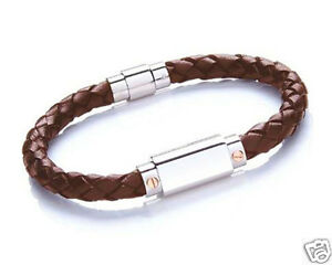 Personalised Bracelet, Text Engraved Men's Black Leather, Genuine Tribal Steel