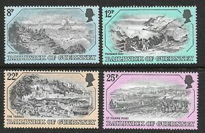 """GUERNSEY SG 161-4 MINT HINGED """"OLD GUERNSEY PRINTS"""" 1978."""