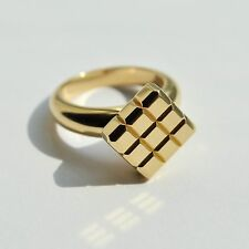 Chopard Ice Cube Ring in 18K Yellow Gold Size 5.5