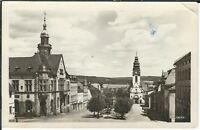Ansichtskarte Adorf im vogtland - Ernst-Thälmann-Platz - schwarz/weiß