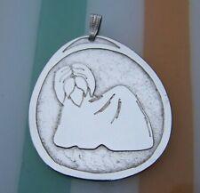 More details for beautiful edinburgh hallmarked 1978 solid silver sheep dog pendant best on ebay