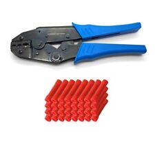 Outil de sertissage + 50x Connecteur Choc Rouge 0,5 - 1,5 mm isolé - pinces