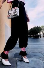 STUNNING!!! •••Attico Fuchsia Snakeskin Pink Leather Ankle Cuffs NWT•••