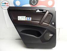 AUDI Q7 QUATTRO 07-11 LEFT REAR DOOR INTERIOR TRIM PANEL LEATHER W/ WINDOW BLIND