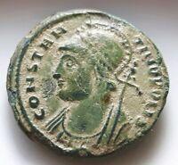 ROMA CONSTANTINOPOLIS ROMAN COIN VICTORIA VICTORY