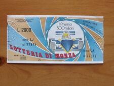 BIGLIETTO LOTTERIA Nazionale Lotteria di Monza F1 1985 [AF20]