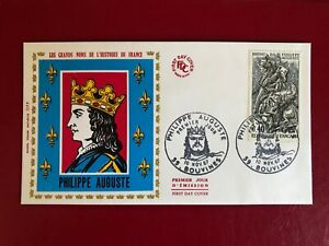 Enveloppe premier jour 1967 - Philippe Auguste - Bouvines (59)
