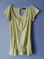 F&F WOMENS YELLOW SHORT SLEEVE TUNIC TOP SIZE 12 TUNIC LENGTH 29 PIT TO PIT 18