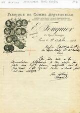 Paris XIX ème 171 Rue d'Allemagne - Gomme Artificielle pour la Pharmacie de 1904