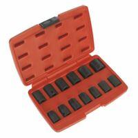 Sealey AK5613M Impact Socket Set Metric 13pc 1/2 Drive 10 - 24mm With Case