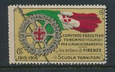 ITALY 1915-16 WW1 FIRENZE ROTARY 5c CHARITY FUND LABEL...L3