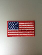 US Flag Patch - Iron On Badge Embroidered Motif - USA America United States #153