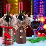 Santa Claus Wine Bottle Cover Bag Christmas Dinner Party Xmas Table Decor