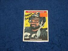 FRANCO HARRIS STEELERS PENN STATE 2012 SPORTKINGS #230 PREMIUM BACK LETTER P