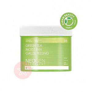 NEOGEN GREEN TEA Moist PHA Gauze Peeling Face Pads Bio-Peel (30 Pads) UK Seller