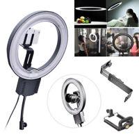 Studio 40W 5400K Diva Ring Lamp Light + Camera iPhone Holder fr Photo Video 220V