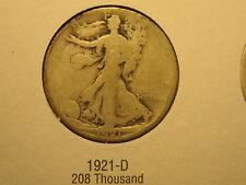 1921-D Walking Liberty Silver Half Dollar