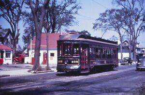 Trolley Slide - Union Street Railway #405 Streetcar New Bedford MA 1940s Vintage
