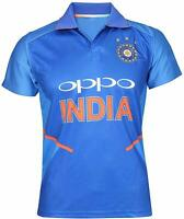 Indian Cricket Team ODI 2018-2019 Jersey T-Shirt For Boys and Men- Blue KU